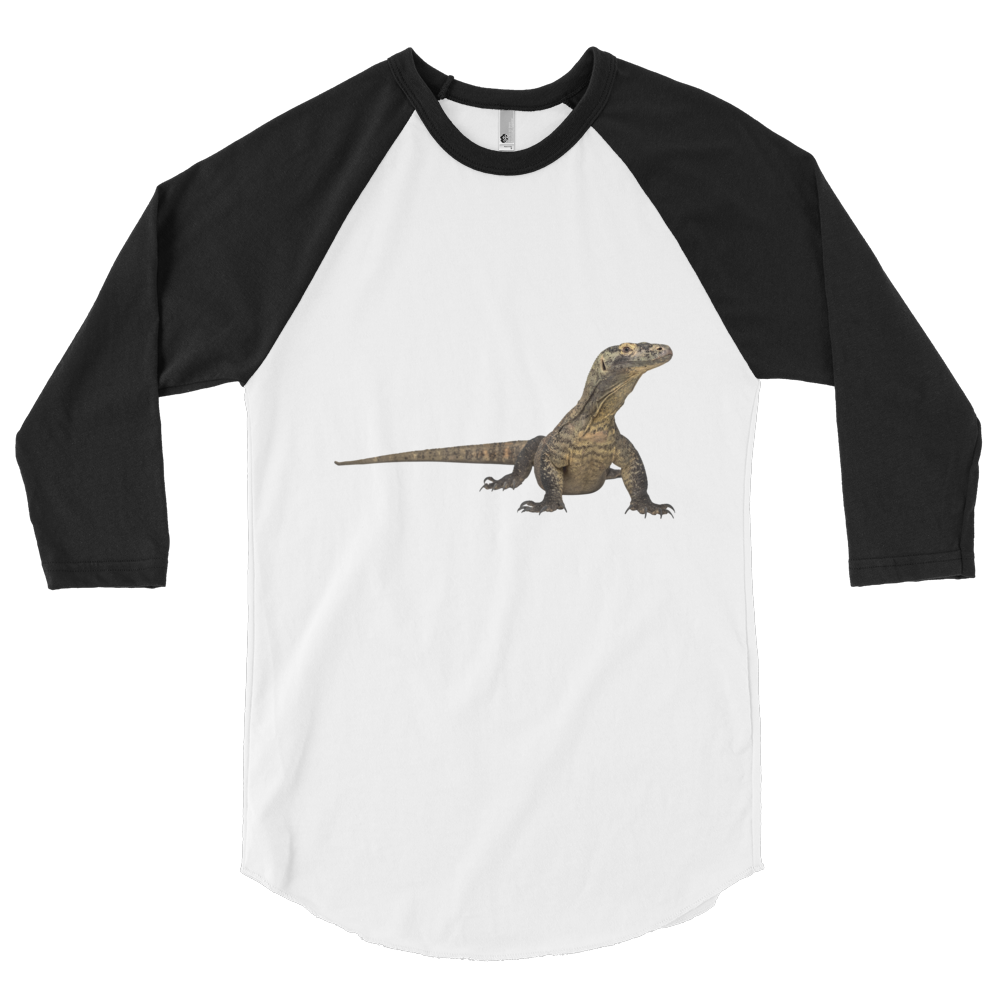 Komodo-Dragon Print 3/4 sleeve raglan shirt