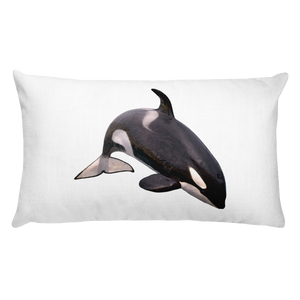 Killer-Whale print Rectangular Pillow