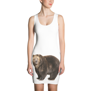 Brown-Bear Print Sublimation Cut & Sew Dress