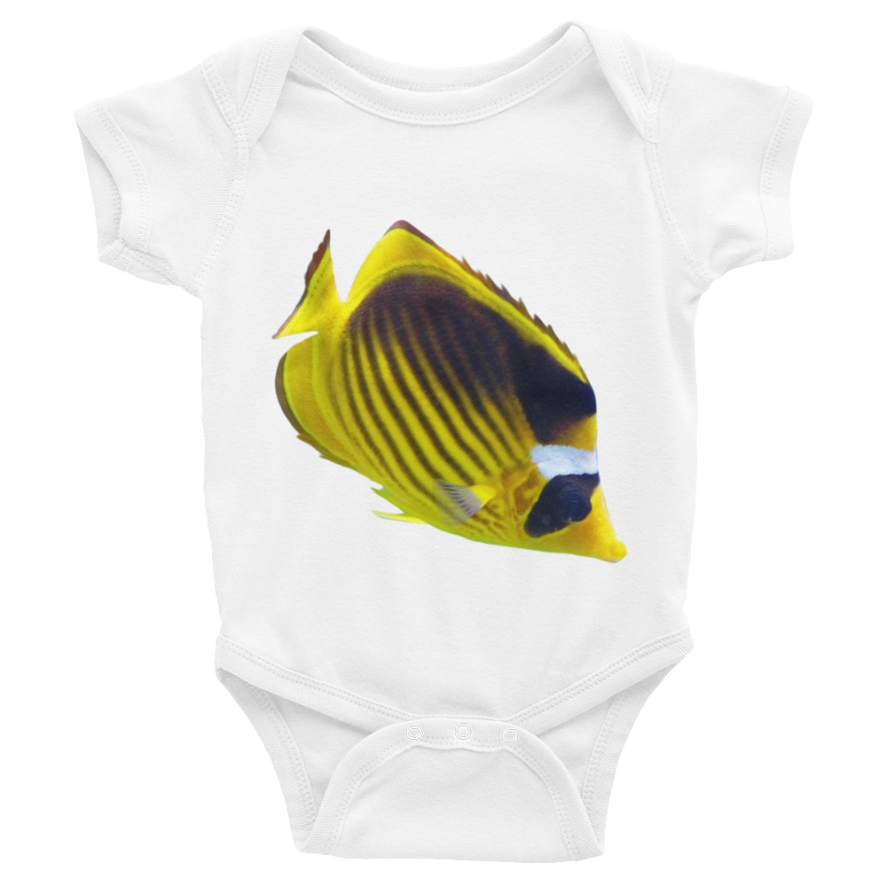 Butterfly-Fish Print Infant Bodysuit