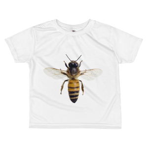 Honey-Bee Print All-over kids sublimation T-shirt