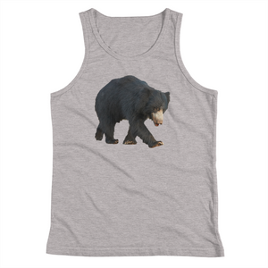 Sloth-Bear Print Youth Tank Top