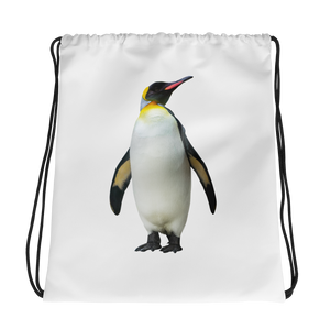 Emperor-Penguin Print Drawstring bag