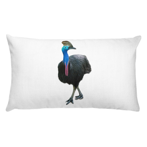 Cassowary Print Rectangular Pillow