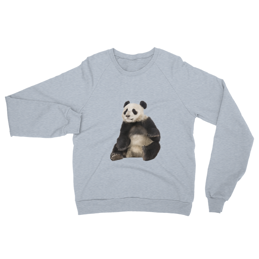 Giant-Panda- print Unisex California Fleece Raglan Sweatshirt