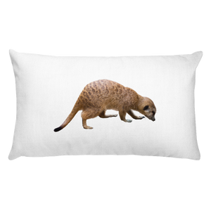 Mongoose Print Rectangular Pillow