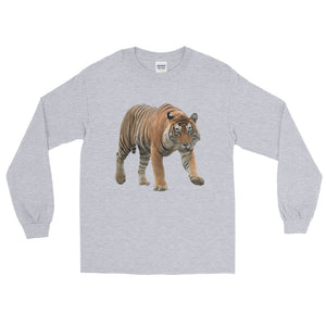 Bengal-Tiger Print Long Sleeve T-Shirt
