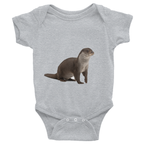 European-Otter Print Infant Bodysuit