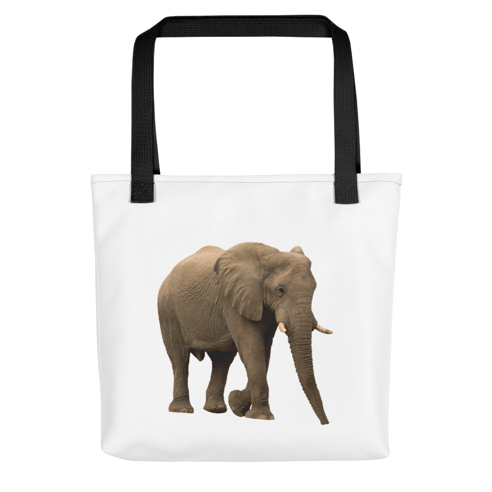 African-Forrest-Elephant Print Tote bag