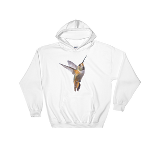 Hummingbird Print Hooded Sweatshirt