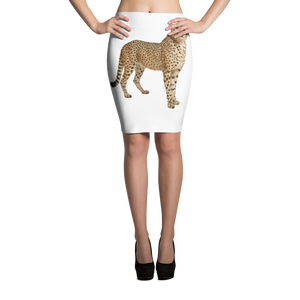 Cheetah Print Pencil Skirt