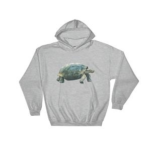 Galapagos-Giant-Turtle Print Hooded Sweatshirt