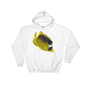 Butterfly-Fish- Print Hooded Sweatshirt