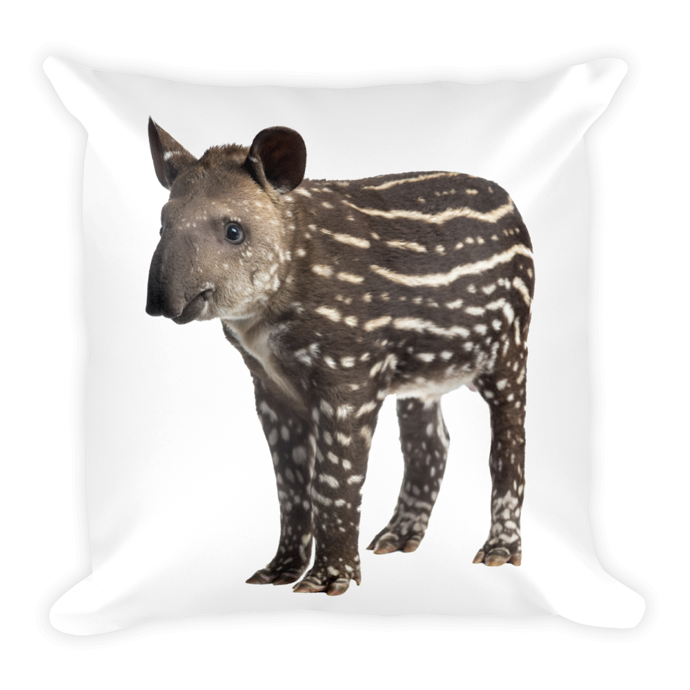 Tapir Print Square Pillow
