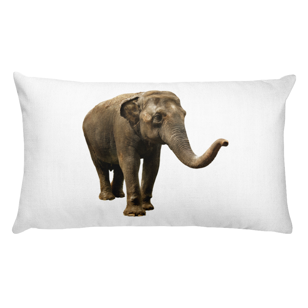 Indian-Elephant Print Rectangular Pillow