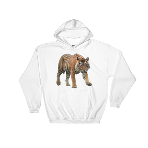 Bengal-Tiger Print Hooded Sweatshirt