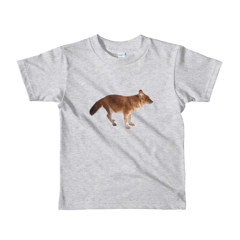 Dhole Print Short sleeve kids t-shirt