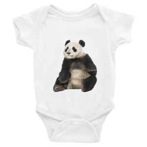 Giant-Panda Print Infant Bodysuit