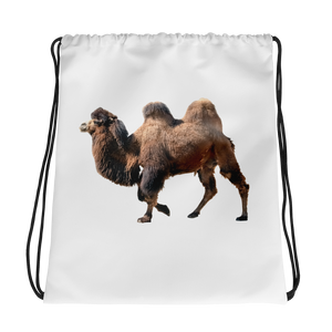 Bactrian-Camel Print Drawstring bag