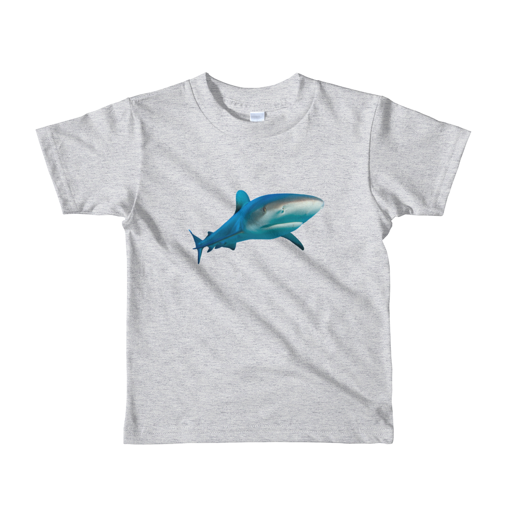 Great-White-Shark Print Short sleeve kids t-shirt