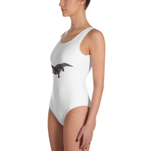 Dwarf-Crocodile Print One-Piece Swimsuit