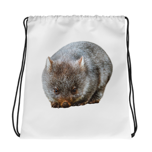 Wombat Print Drawstring bag