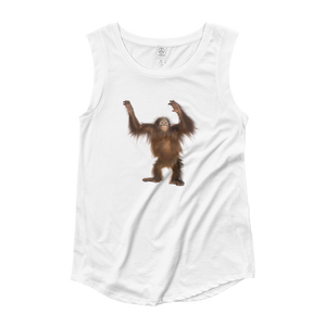 Orang-utan Ladies‰۪ Cap Sleeve T-Shirt