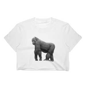 Gorilla Print Women's Crop Top