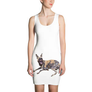 African-Wild-Dog Print Sublimation Cut & Sew Dress