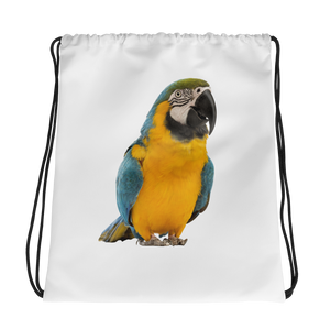 Macaw Print Drawstring bag