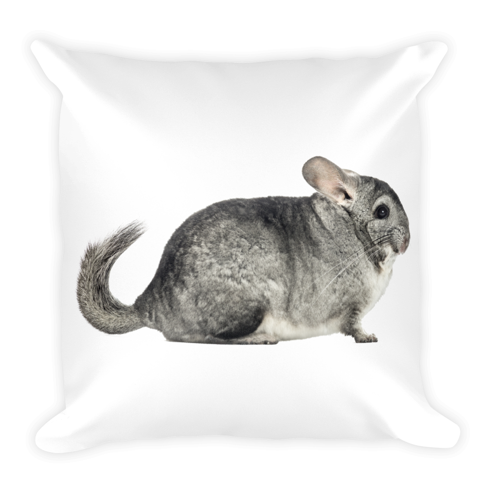 Chinchilla Print Square Pillow