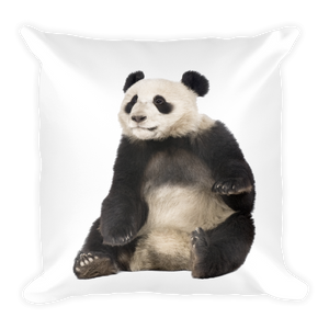 Giant-Panda Print Square Pillow