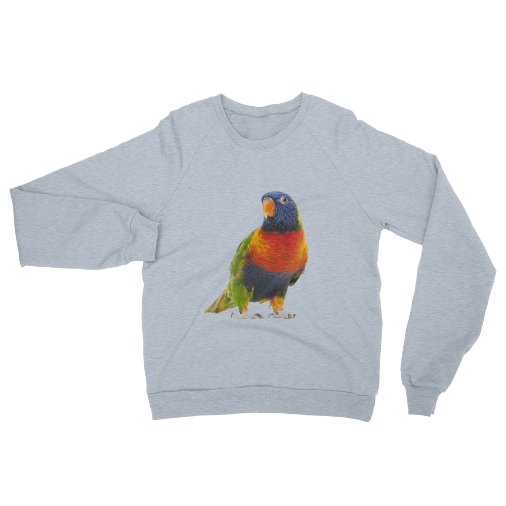 Parrot print Unisex California Fleece Raglan Sweatshirt