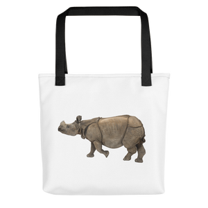 Indian-Rhinoceros Print Tote bag