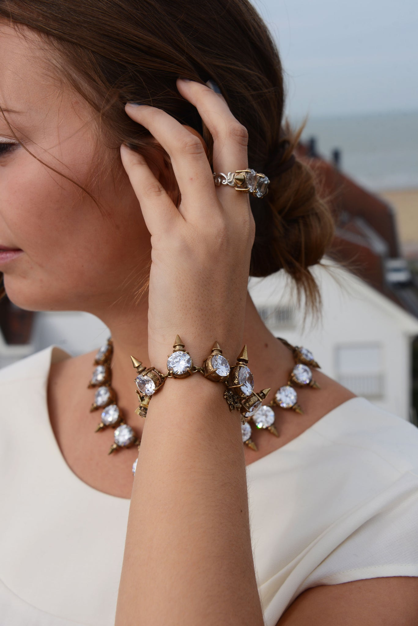 Blogger Maxime Morren in Terry Schiefer Jewellery
