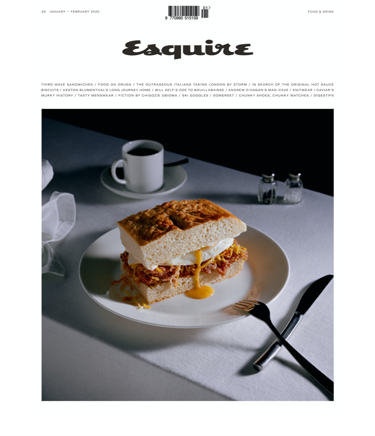 Terry Schiefer in Esquire Magazine January 2020