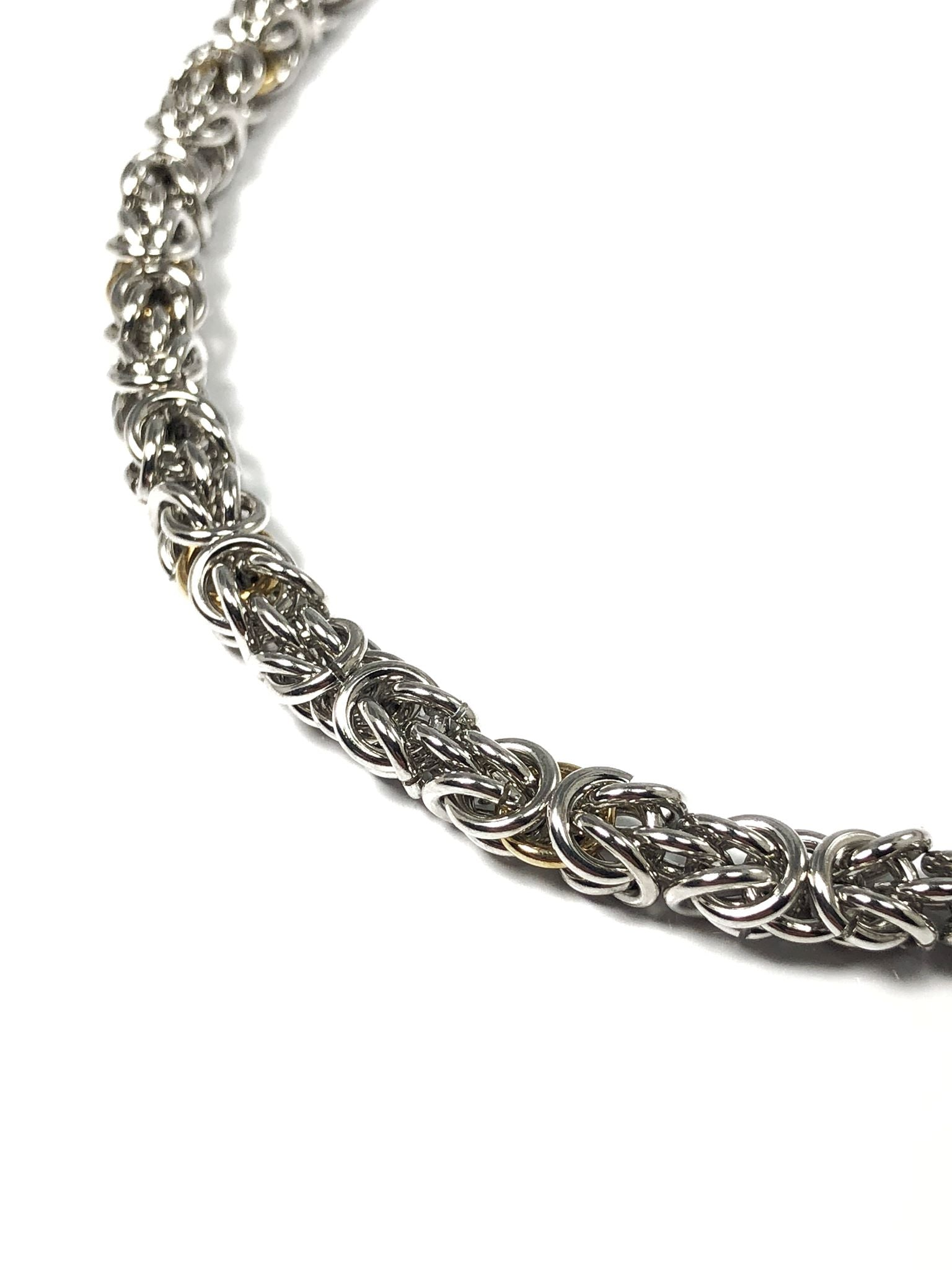 Silver Handwoven Byzantine Chain - Terry Schiefer