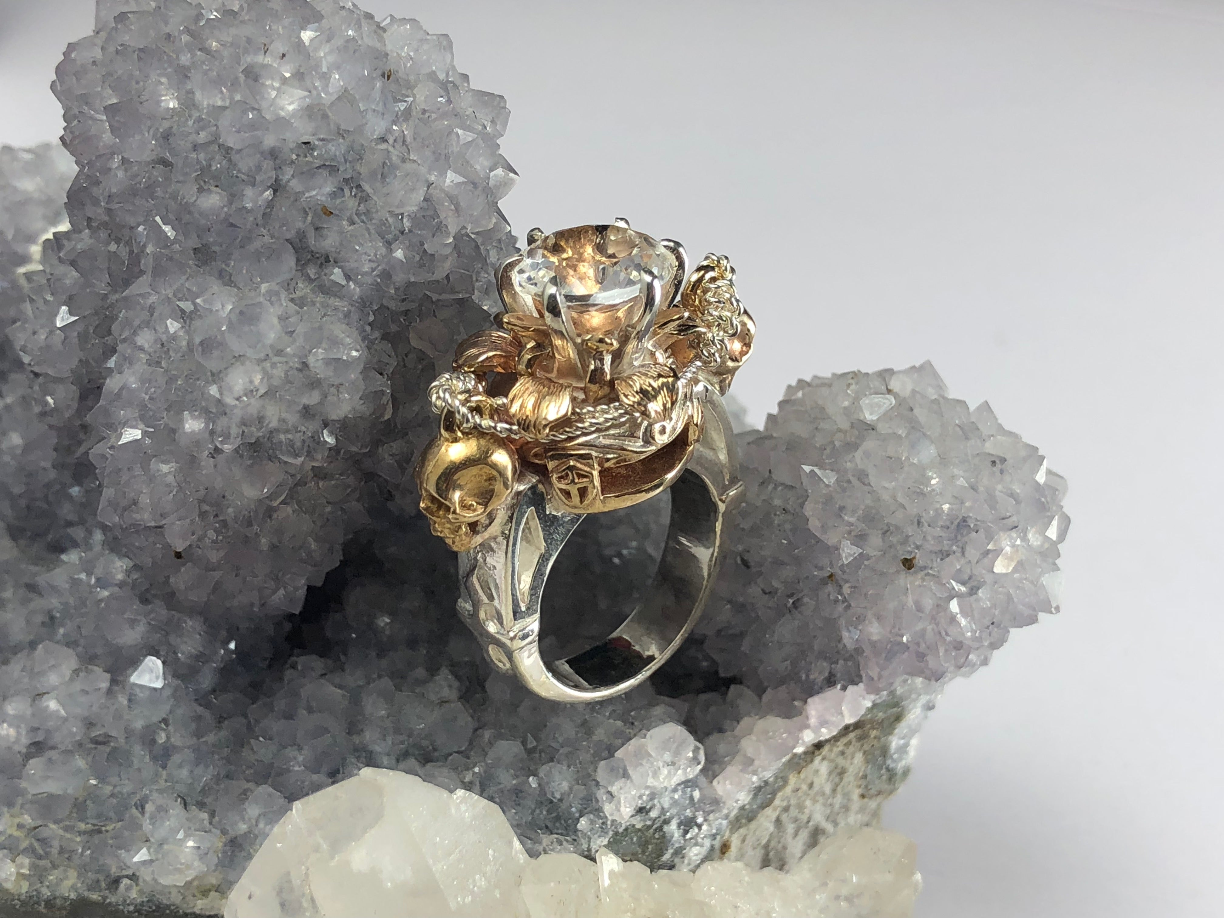 Skull Lotus Ring - Terry Schiefer