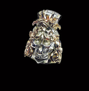Lotus Crown Skull Ring - Terry Schiefer