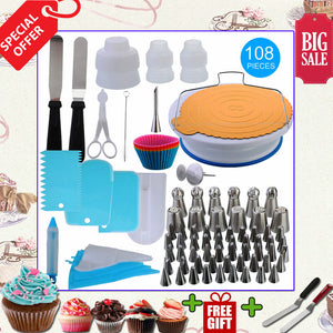 Newest 108pcs Cake Decorating Baking Set
