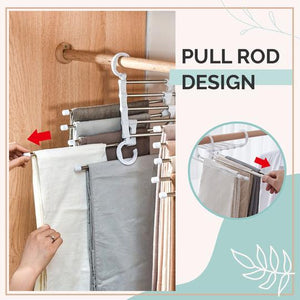 Multi-functional Pants Rack - Buy 1 Take 2 ( Black Color )