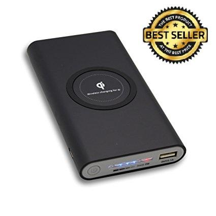 wireless power bank +free wireless charging receiver pad