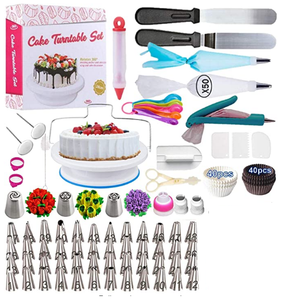 Newest 206 PCS Cake Decorating Baking Set + Free Gift