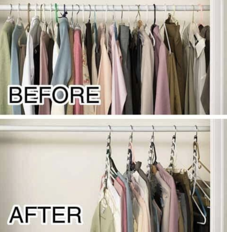 MAGIC HANGER   Increase The Amount Of Hanging Space In Your Closet With Our  Magic Wonder Hangers! The Ingenious Design Allows You To Store Multiple  Garments ...