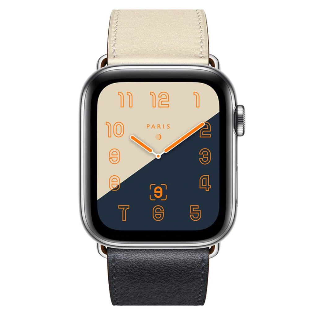 Leather Apple Watch Band - 2-color, stylish, for Series 1 / 2 / 3 / 4, Sizes 38 / 40 / 42 / 44 mm, Men / Women