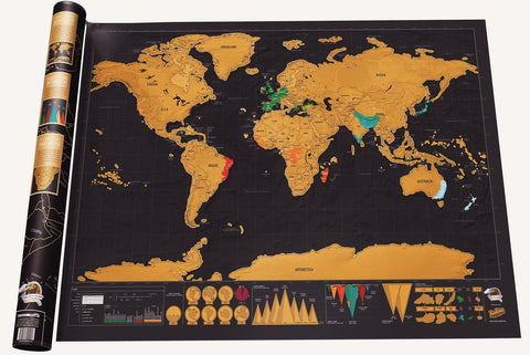 Scratch-off World Map - Scratch Map - Travel Map