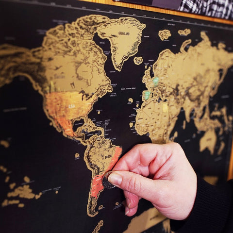 Scratch-off World Map - MUST HAVE for every Travel Lover!