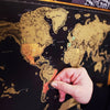 Image of Scratch-off World Map - Scratch Map - Travel Map