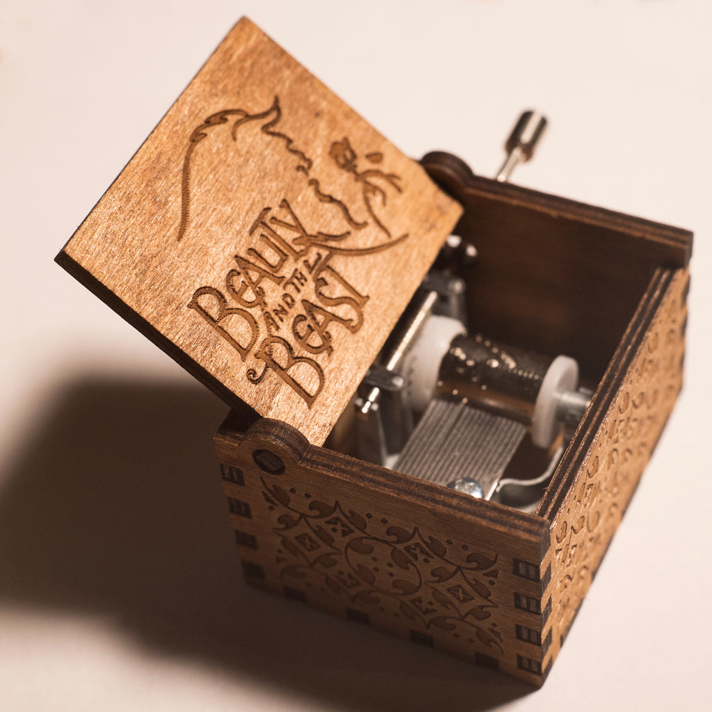 Beauty and The Beast Handmade Wooden Music Box