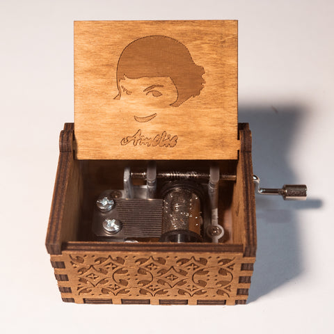 """Amélie"" Theme Song Handmade Wooden Music Box"